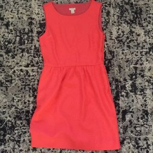 J. Crew Bright Coral Dress With Pockets